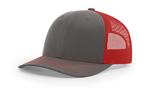 Richardson Structured Classic Trucker Snapback 112 Charcoal/Red ()
