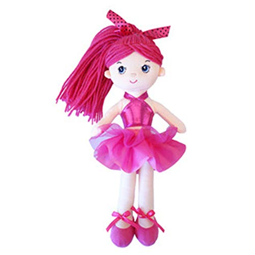 (ACHIEWELL Ballet Dolls Cute Soft Plush Ballerina Creative Stuffed Animals 12-Inch (Rose Red))