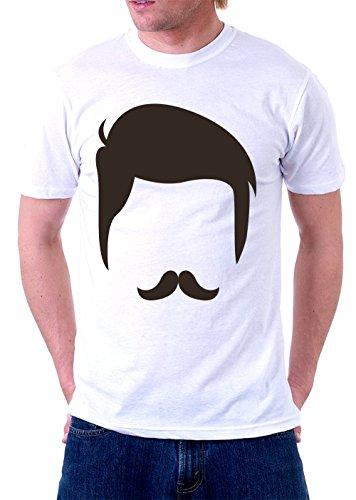 Gunslinger Mustache T-Shirt (XX-Large, White) -