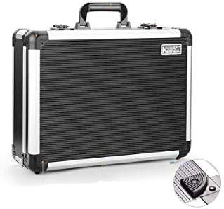 CHUNSHENN ツールボックス 工具箱 適するのホームアウトドア修理工具収納ボックス、アルミ合金多機能ブラック、サイズ36 * 16.5 * 20センチ(カラー:ブラック、サイズ:36 * 16.5 * 20センチ)