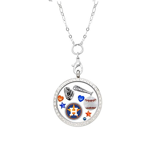 Houston Astros Stainless Steel (Houston Astros Floating Locket on a 32