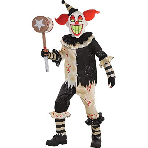 AMSCAN Carnival Nightmare Clown Halloween Costume for Boys, Large, with Included Accessories -