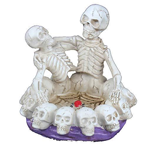 charmsamx Skull Ashtray, High-Grade Resin Pots Hollow Skull