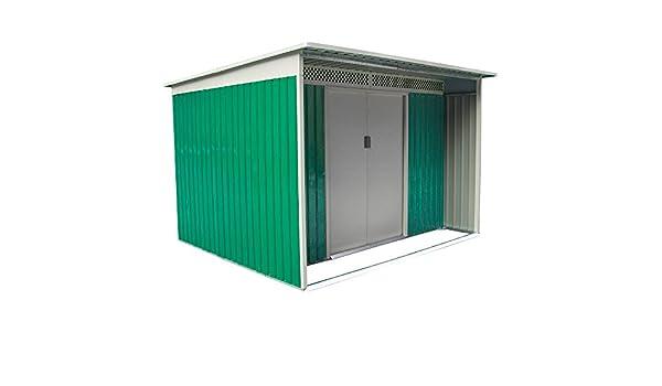 Box - Casita para exterior, jardín, metál zincado, 213 x 260 x 189 cm - DARREN B: Amazon.es: Bricolaje y herramientas