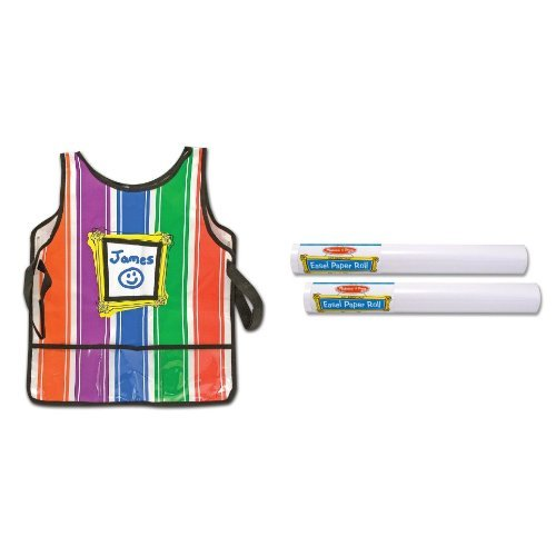 Melissa & Doug Artist's Smock and Easel Paper Roll- 18