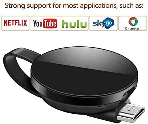 ATETION WiFi Wireless Display Dongle 1080P Mini Receiver Sharing HD Video from Projectors Cell Phones Tablet PC Support Airplay/Chromecast/Chromecast Tv/Miracast/Miracast Dongle for Tv