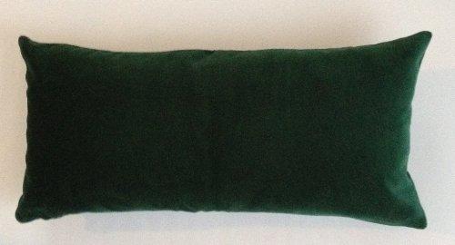 Hunter Green Cotton Velvet Decorative Throw Pillow Cover - 12''x24