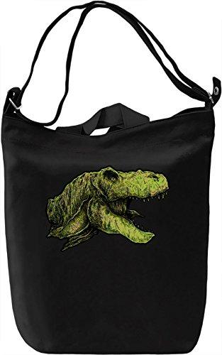 T-rex head Borsa Giornaliera Canvas Canvas Day Bag| 100% Premium Cotton Canvas| DTG Printing|
