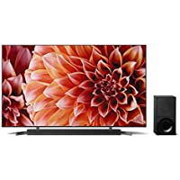Sony 65-Inch 4K Ultra HD Smart LED TV X9000F 2.1ch Soundbar with Dolby Atmos and Wireless Subwoofer (HT-X9000F) (900 Model)