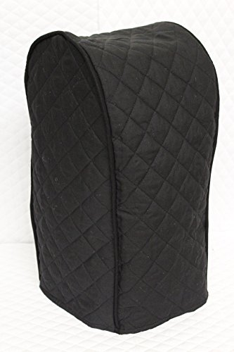 Ninja blender cover - Quilted Double Faced Cotton, Black