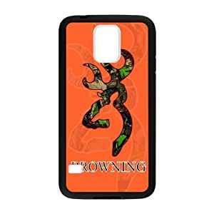 Orange Background Browning Cutter Camo Custom Case Cover of Samsung Galaxy S5 (Laser Technology) by icecream design