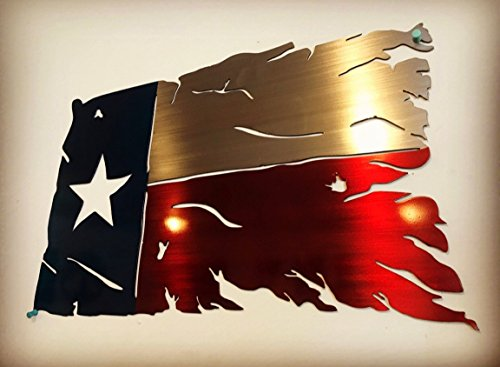 Metal Art of Wisconsin Pray for Texas Flag Painted 3 Foot
