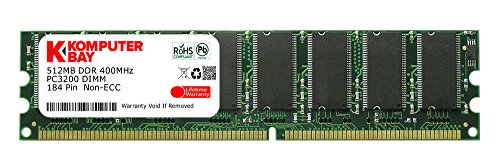 Komputerbay 512MB DDR DIMM (184 pin) 400Mhz PC 3200 Low Density 512 MB