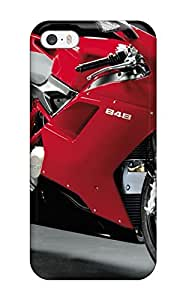 Ultra Slim Fit Hard Chris Bullock Case Cover Specially Made For Iphone 5/5s- Motorcycle Pictures