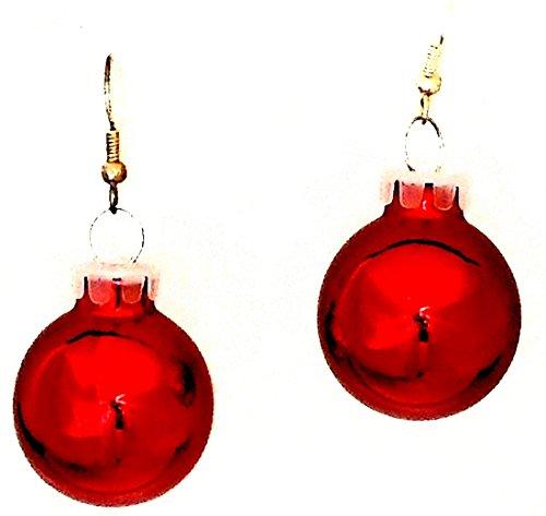 Red Christmas Holiday Glass Ornament Ball Dangling ()