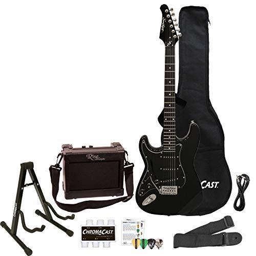 Sawtooth 6 String Electric Guitar, Left-Handed, Black Pickguard, Left-Handed (ST-ES-LH-BKB-BEG-KIT)