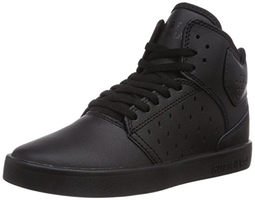 Supra Kids Boy's Atom (Little Kid/Big Kid) Black/Red Cup Sole Sneaker 5 Big Kid M (Supra High Tops Kids)