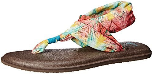 Sanuk Frauen Yoga Sling 2 Flip Flop Türkis / Multi