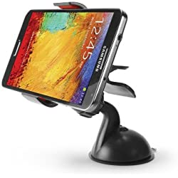 "ZTE ""ZMAX Pro"" Black Dashboard/Windshield Auto Car Mount Holder for Phones & PDAs Up to 3.8inches Wide"
