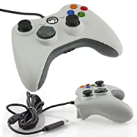 WHITE VIDEO GAMES ACCESSORY USB WIRED CONTROLLER JOYPAD GAMEPAD FOR MICROSOFT XBOX 360 PC WINDOWS Win 7