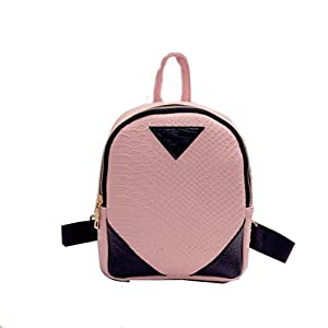 2018 Canvas Rucksack concise Serpentine Backpack School Book Shoulder Bag for Women by TOPUNDER