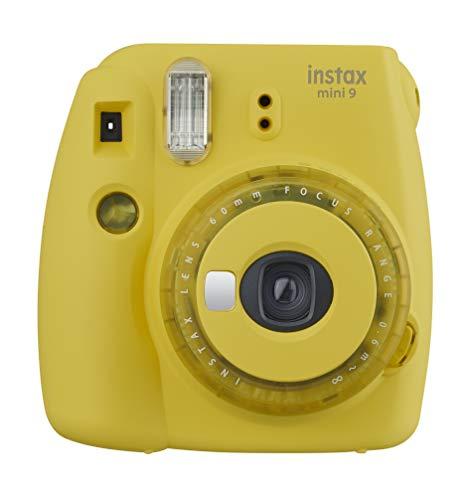 41XJ5%2BedDdL - Fujifilm instax Mini 9 Instant Film Camera (Yellow with Clear Accents) + Fujifilm Instax Mini Twin Pack Instant Film (80 Shots) + Camera Case + AA Batteries + Accessory Bundle