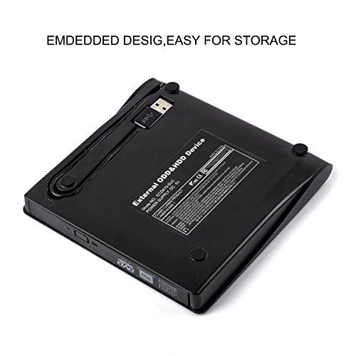 Emmako DVD Drive External USB 3.0 CD-RW DVD-RW Rewriter Burner Superdrive For High Speed Data Transfer for Laptop Notebook PC Desktop Computer Support Windows/Vista/7/8.1/10, Mac OSX by Emmako (Image #4)