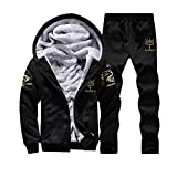 Men's Casual Sportswear Clearance, REYO Autumn Hoodie Warm Fleece Sweater Jacket Outwear Coat Top Pants Sets Trousers
