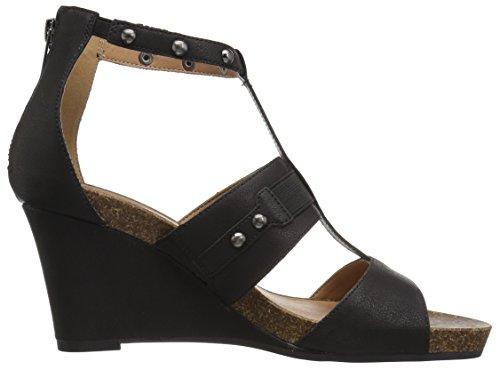 Sandalo Con Zeppa Aerosoles Donna Nero