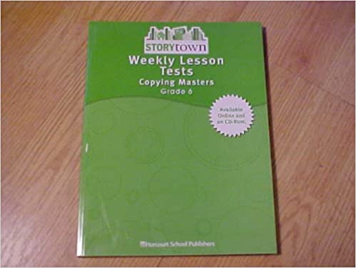 Weekly Lesson Tests Copying Masters Grade 6