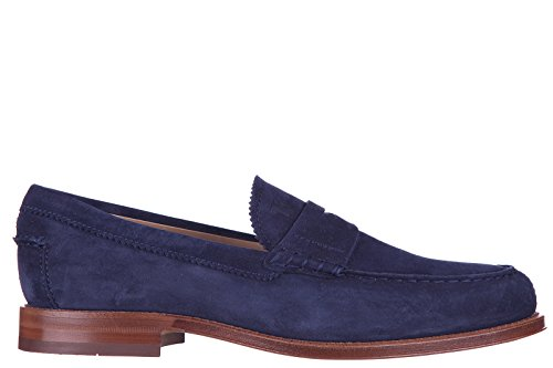 tods-mens-suede-loafers-moccasins-formale-blu-us-size-75-xxm0ro00640re0u820