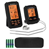 SUNAVO Meat Thermometer for Grilling Wireless BBQ Thermometer Digital Smoker Dual Temperature Probe