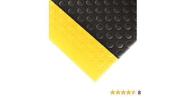 Notrax 417S0036BY NoTrax 417 Bubble Sof-Tred negro//amarillo 3 pies de ancho x 6 pulgadas de largo x 1//2 pulgadas de grosor para /áreas secas Alfombrilla de seguridad//antifatiga con esponja de PVC Dyna-Shield