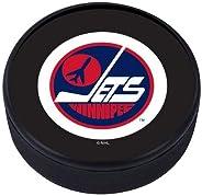 Mustang Winnipeg Jets 3D Textured Vintage Classic Logo Souvenir Hockey Puck
