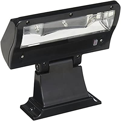 Whitehall Products Standard Wall Illuminator Solar Address Lamp, Black