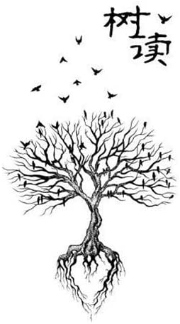Tatuaje temporal planta falso pequeño árbol fresco brazo hombro ...