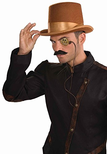 Costumes Top Hats For Sale (Steampunk Brown Bell Topper Hat)