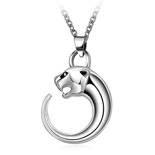 316L Stainless Steel Leopard Pendant Necklace Hiphop Long Chain Men Jewelry by sfcdirect