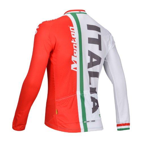 eab08e4ff Monton Outdoor Sports EVO Flag Cycling Jersey Set Long Sleeve Mens Series (Flag  Italy