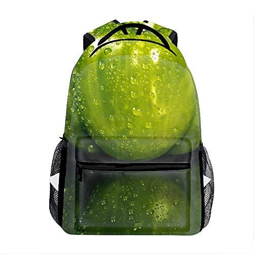 Pepper Drops Green Backpack For School Shoulder Daypack Handbag ()