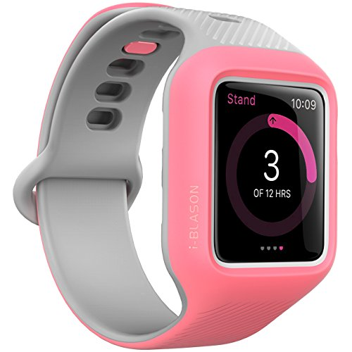 Apple Watch 3 Case 42mm, i-Blason [New Unity Series] Premium Hybrid Protective Bumper Band for Apple Watch 42mm 2017 Release [Compatible with Apple Watch 42mm Series 3 2017/Series 2/Series 1] (Pink)