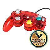Control Alámbrico - Para Nintendo GameCube - Color Rojo Crystal