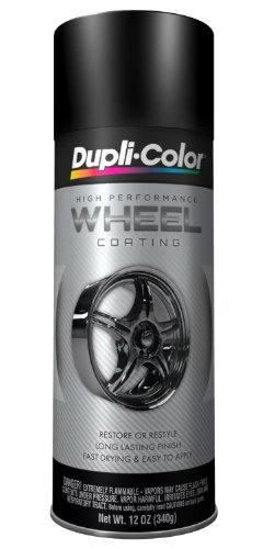 Dupli-Color (EHWP10407-6 PK) Black Wheel Coating - 11 oz. Aerosol, (Case of 6) (Dupli Color Wheel Coating)