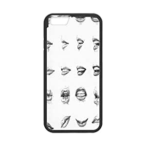 Doah Toothy IPhone 6 Cases Beautiful Teeth, Toothy, {Black}