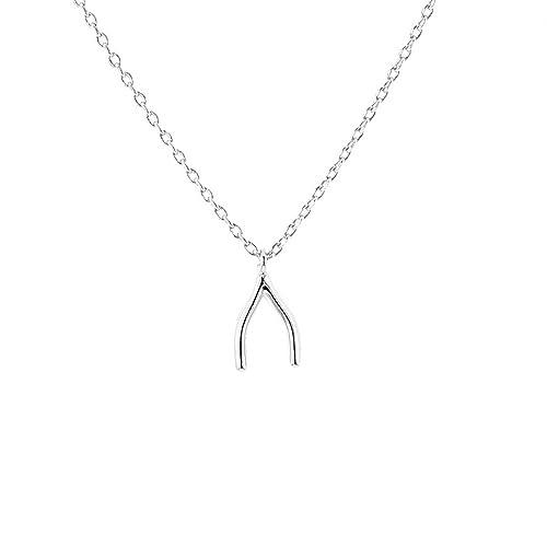 DiamondJewelryNY Silver Pendant E2W Mini Cursive Love W//Cz O Necklace