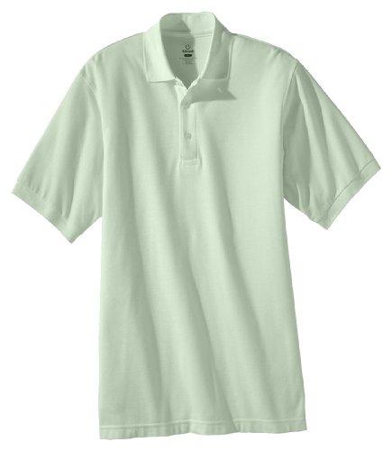 Edwards Garment Men's Big And Tall Soft Pique Polo Shirt_CUCUMBER_XXXX-Large Tall ()