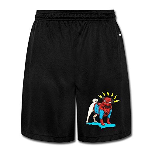 Texhood MEN'S Spider Cute Dog Short Trainning Pants Size L