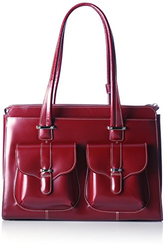 [McKleinUSA ALEXIS 96546 Red Leather Ladies' Briefcase] (Italian Leather Ladies Briefcases)