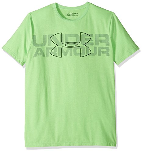 Youth Lime Green T-shirts (Under Armour Boys' Duo Armour T-Shirt,Lime Twist Light Hea (975)/Black, Youth Medium)
