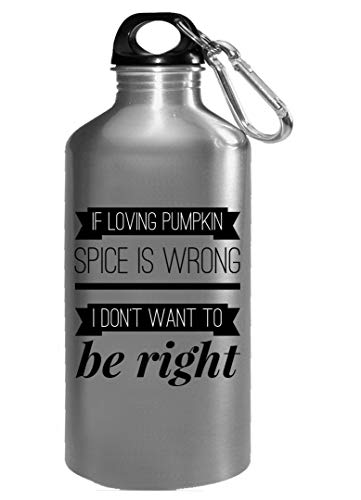 Pumpkin Water Bottle - If Loving Spice Is Wrong I Don't Want To Be Right - Halloweeen Gift -